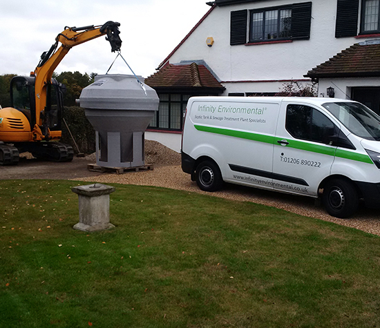 Infinity Environmental Van On Site
