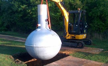 Septic Tank Installation with concrete backfill