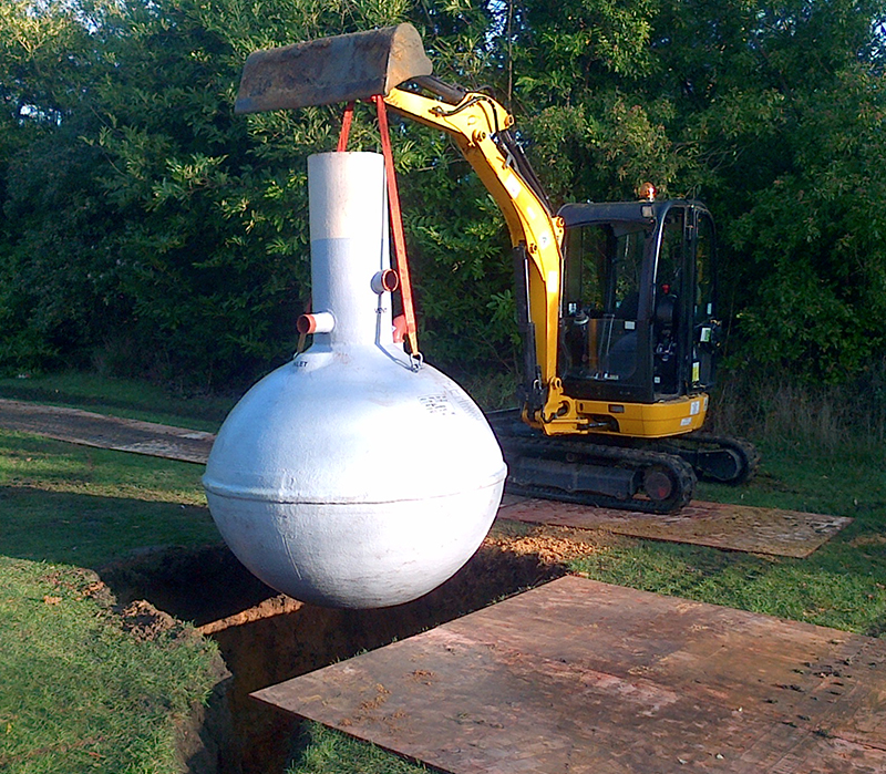 Installing Septic Tanks Concrete Surround Infinity