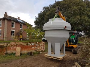 sewage treatment plant ready for installation