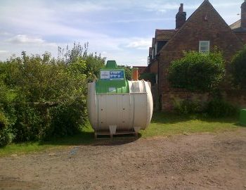 sewage treatment plant delivered for installation