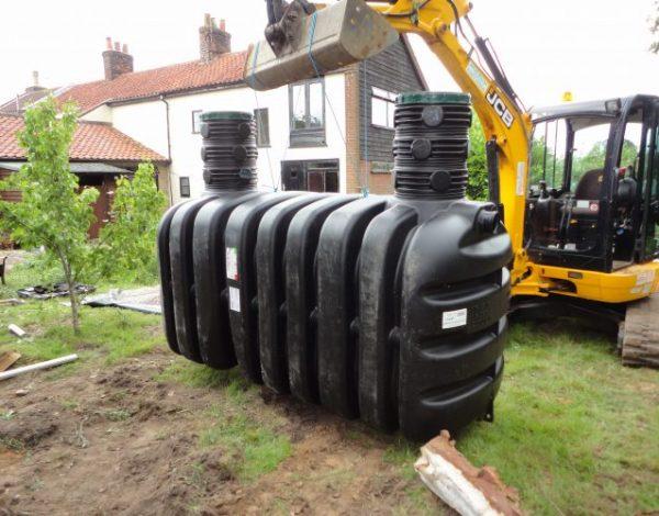 preparing septic tank for installation