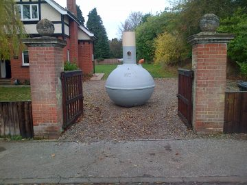 septic tank delivered to property for installation