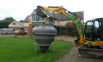 sewage treatment plant ready for installation in Maldon